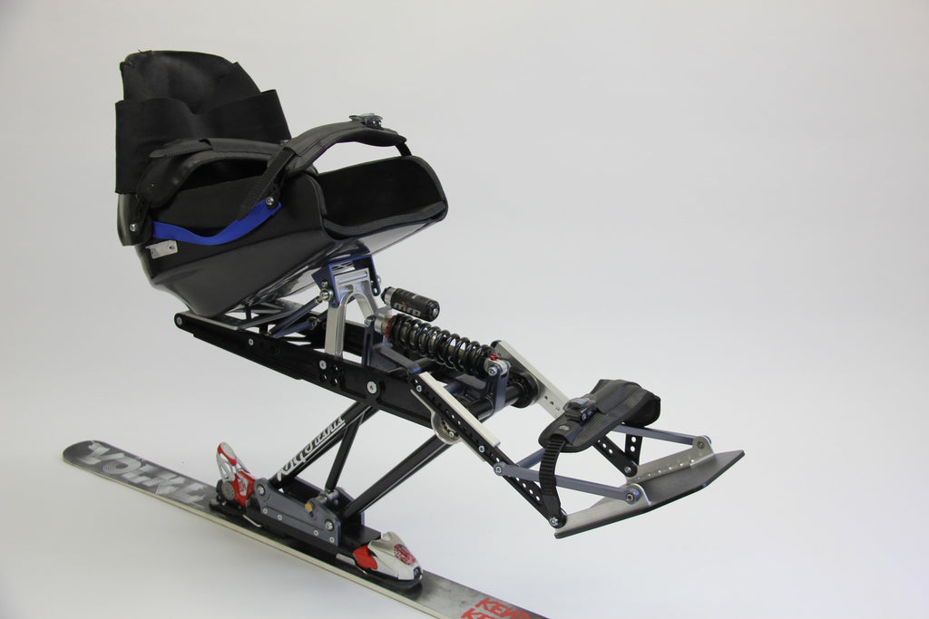 The KBG Lynx mono ski with a seat attached