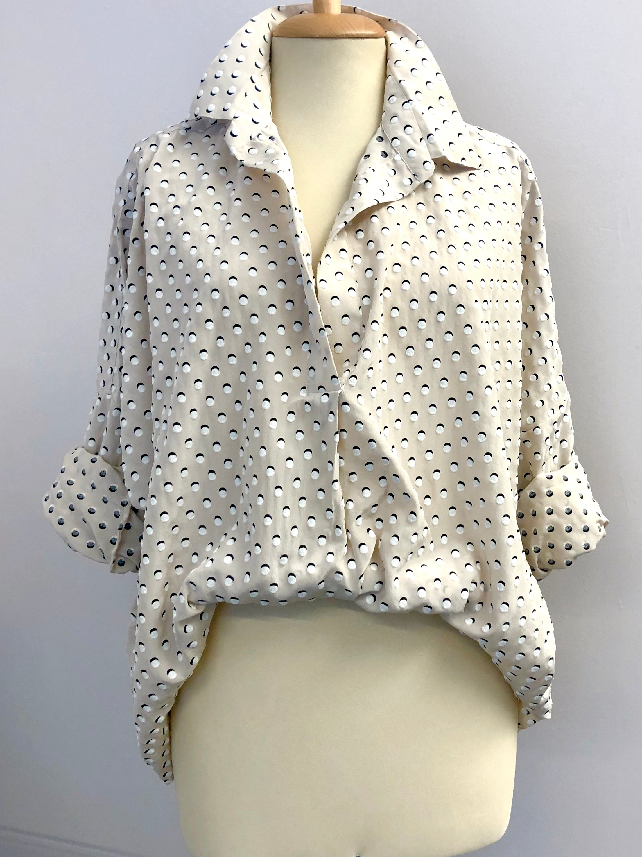 Silk Blouse from Como Italy Camiccia in Seta da Como