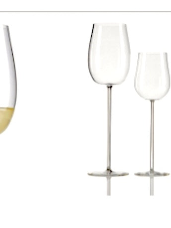 Glasses. Handmade mouth blown Wine Glass. Bicchiere Vino, fatto a mano
