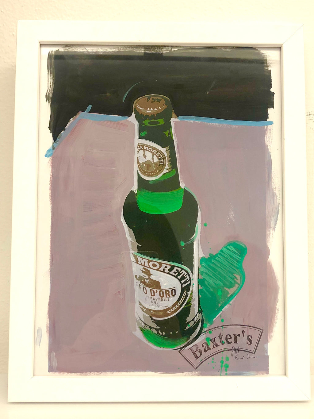 Painting MORETTI Beer