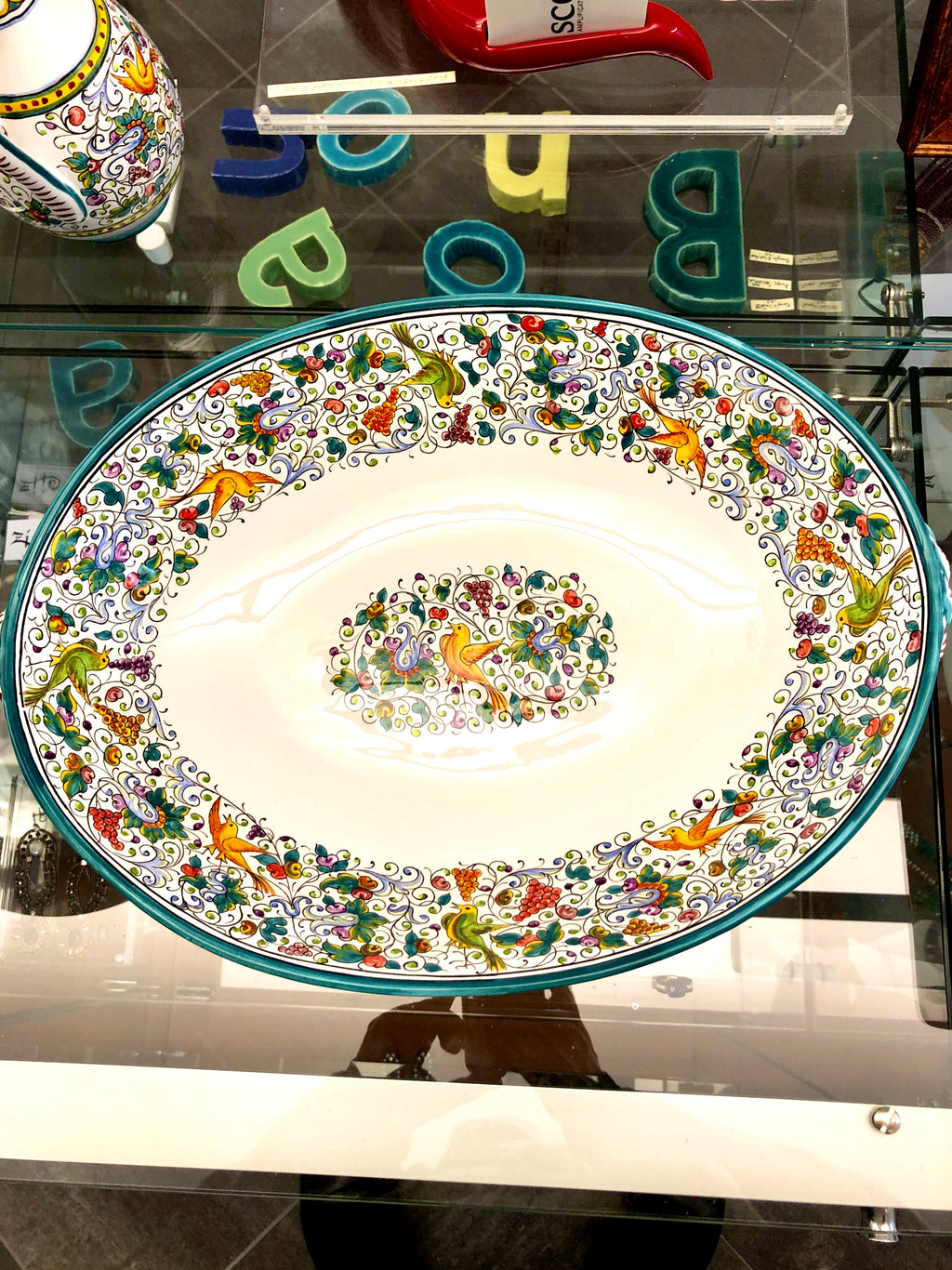 Ceramics, Serving Plate For Pasta. Porta Maccheroni