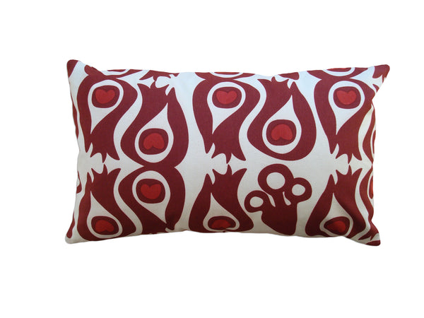 Peacock pillow ruby CPC6