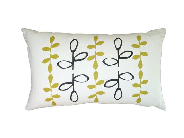 Branch pillow Black/yellow