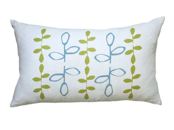 Branch pillow blue/yellow
