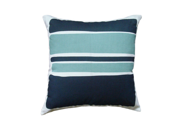 Color Block pillow teal LCB4