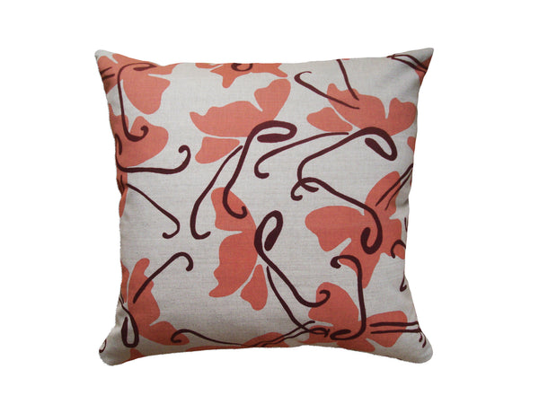 Butterfly pillow coral LCBU15