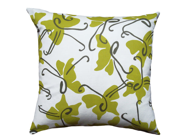 Butterfly pillow chautreuse LCBU8