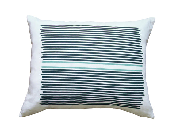 Louis Stripe pillow teal/blue stripe LLOU13