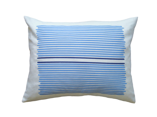 Louis Stripe pillow sky/cobalt stripe LLOU14