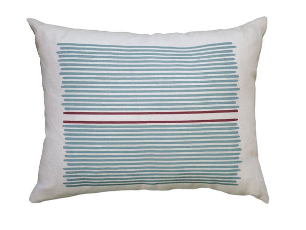 Louis Stripe pillow blue/red stripe
