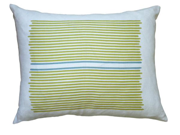 Louis Stripe pillow yellow/blue stripe