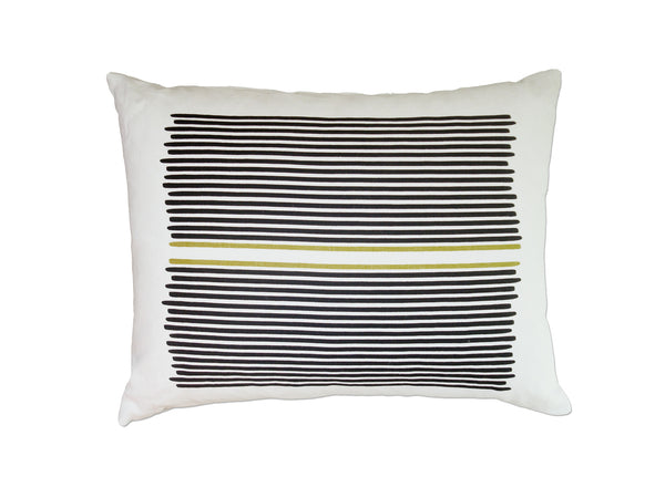Louis Stripe pillow black/yellow stripe