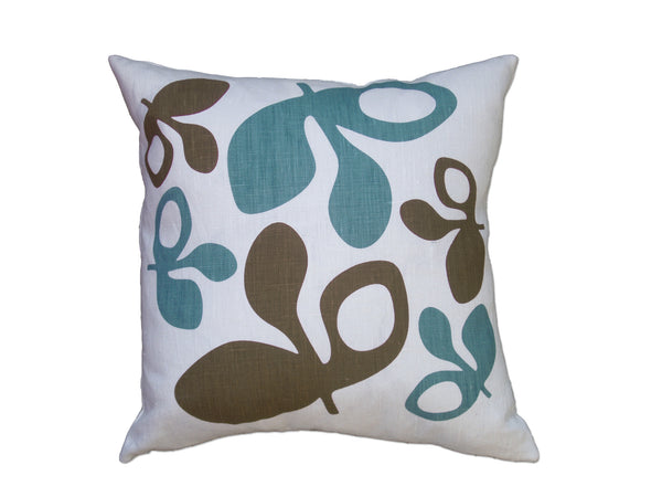 Pod pillow blue/chocolate