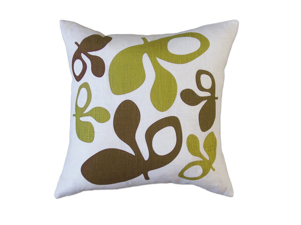 Pod pillow green/chocolate