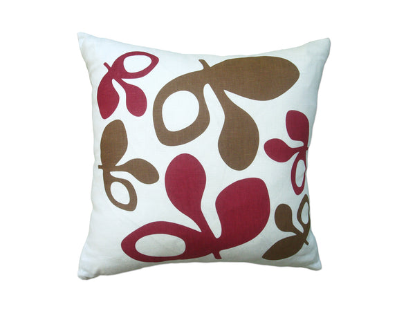 Pod pillow red/chocolate