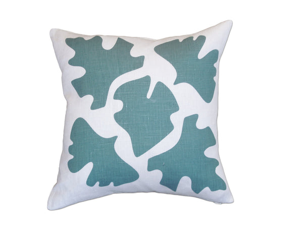 Shade pillow blue