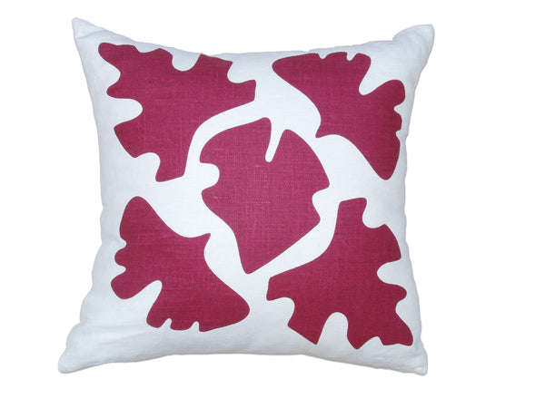 Shade pillow red