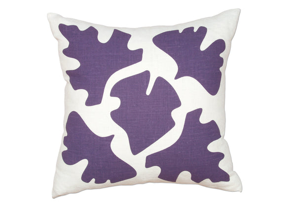 Shade pillow purple
