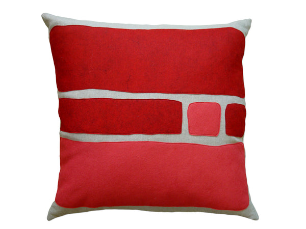 Big Block pillow red/strawberry