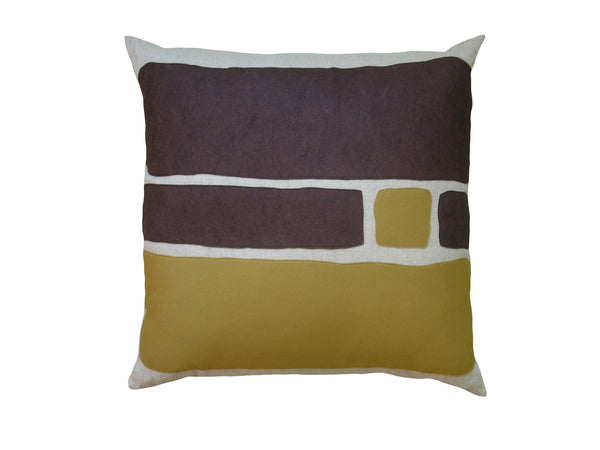 Big Block pillow chocolate/bronze