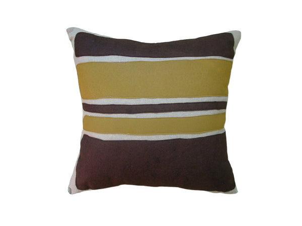 Color Block pillow chocolate/bronze