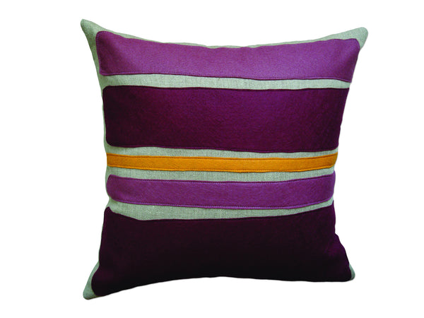 Color Block pillow plum/burgandy/spice