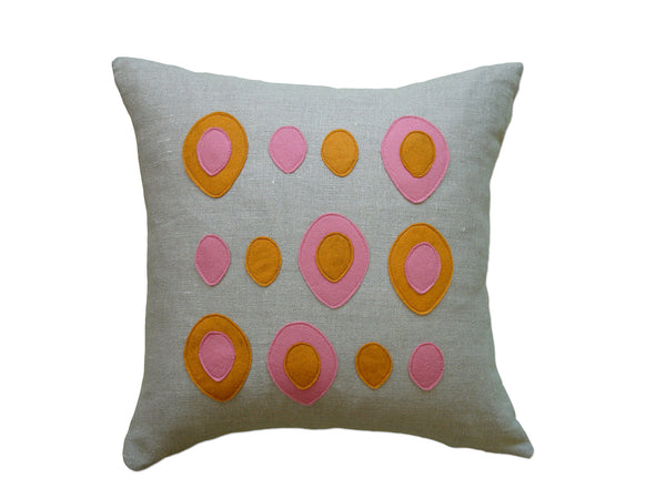 Eggs pillow spice/rose