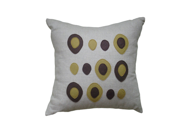 Eggs pillow chocolate/bronze