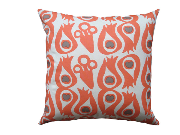 Peacock pillow coral CPC12