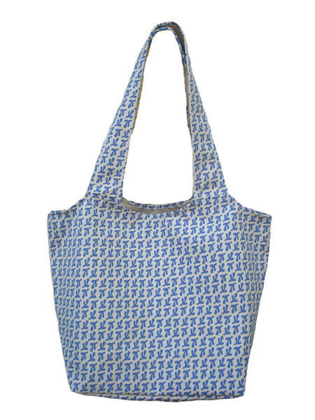 Birds' Feet tote cornflower