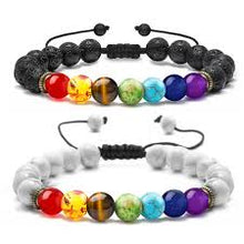 Load image into Gallery viewer, Couples Adjustable 7 Chakra Bracelet (SALE 50% OFF)