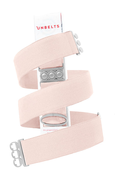 Unbelts Stretch Belt ~ You're Blushin' with Silver Buckle