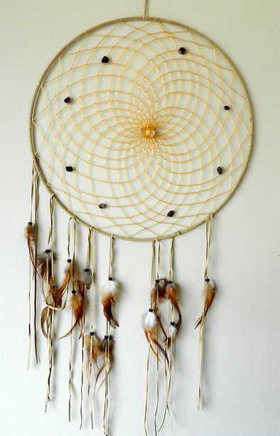 "Dream Catcher 19"" with Quartz & Amethyst"