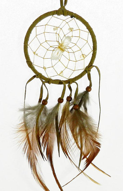 "Vision Seeker Dream Catcher 3"" Tan with Citrine"