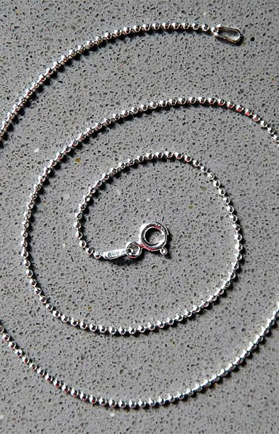 Sterling Silver Diamond Cut Bead Chain 150