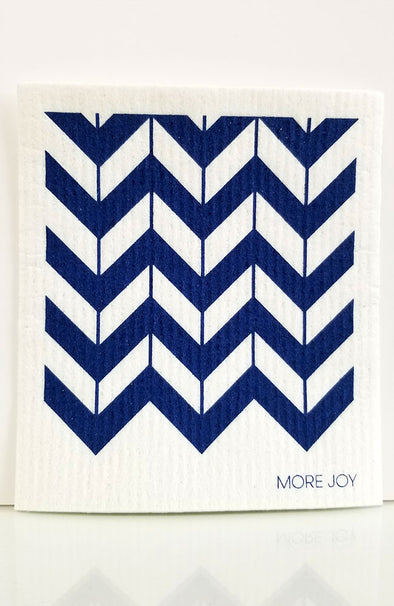 More Joy ~ Swedish Cloth Chevron Blue