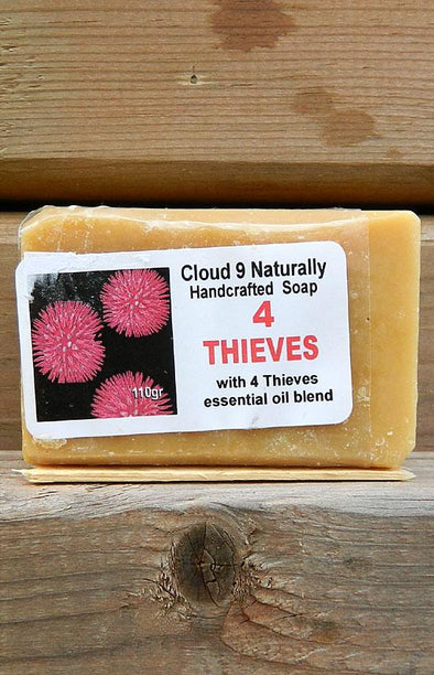 Handmade Natural Soap - 4 Thieves Germ Shield Oil Blend