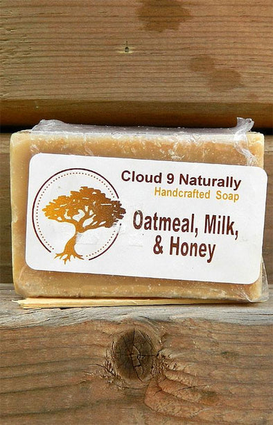 Handmade Natural Soap - Oatmeal, Milk & Honey