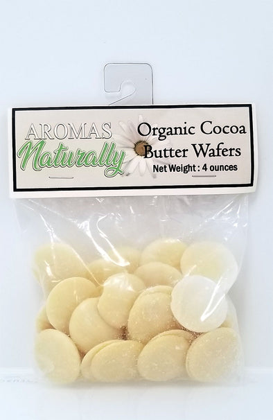 Organic Cocoa Butter Wafers - 4 oz pack