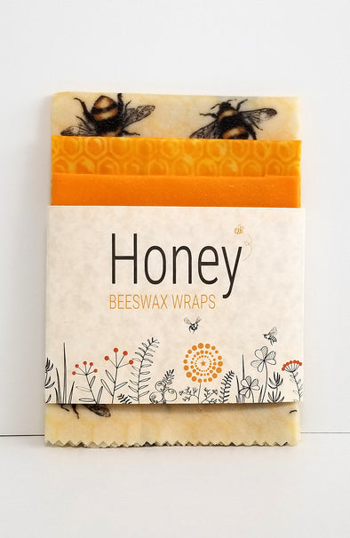 HONEY Beeswax Wraps - Golden Bees