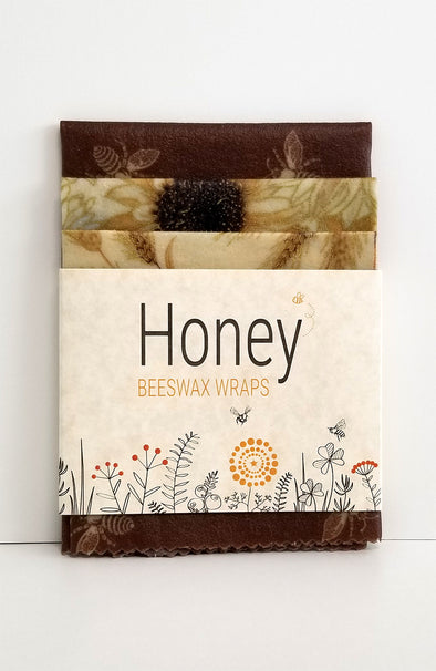 HONEY Beeswax Wraps - Harvest Bees