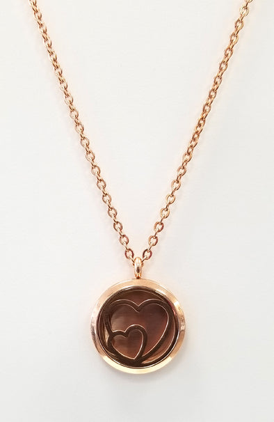 Diffuser Necklace - Rose Gold Heart