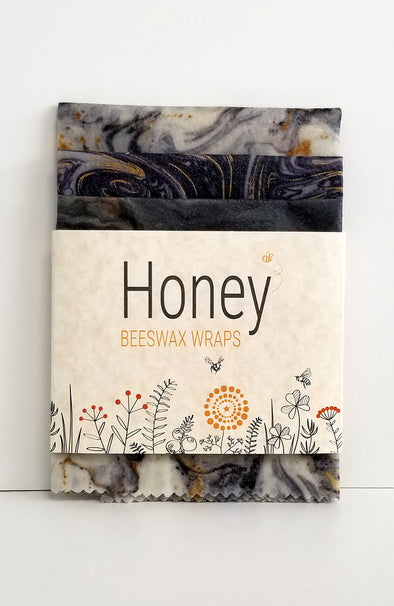 HONEY Beeswax Wraps - Marble-ous