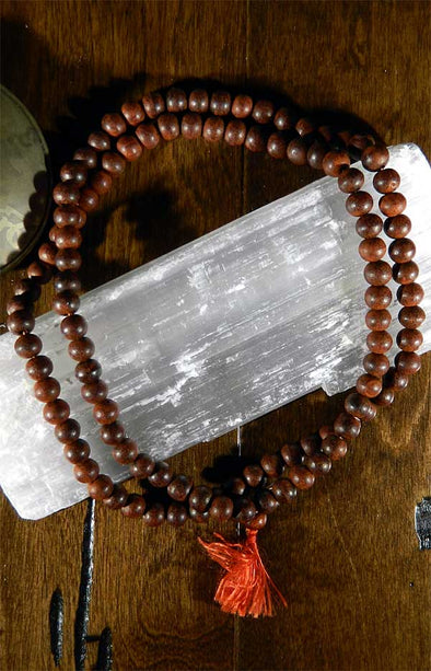 108 Bead Mala Necklace - Rosewood Beads 8mm