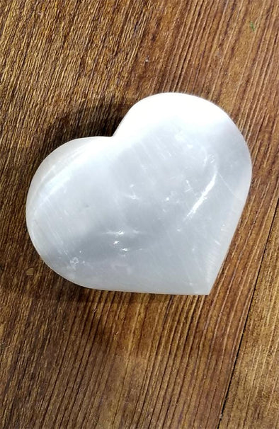 Polished Gemstones - Selenite Hearts