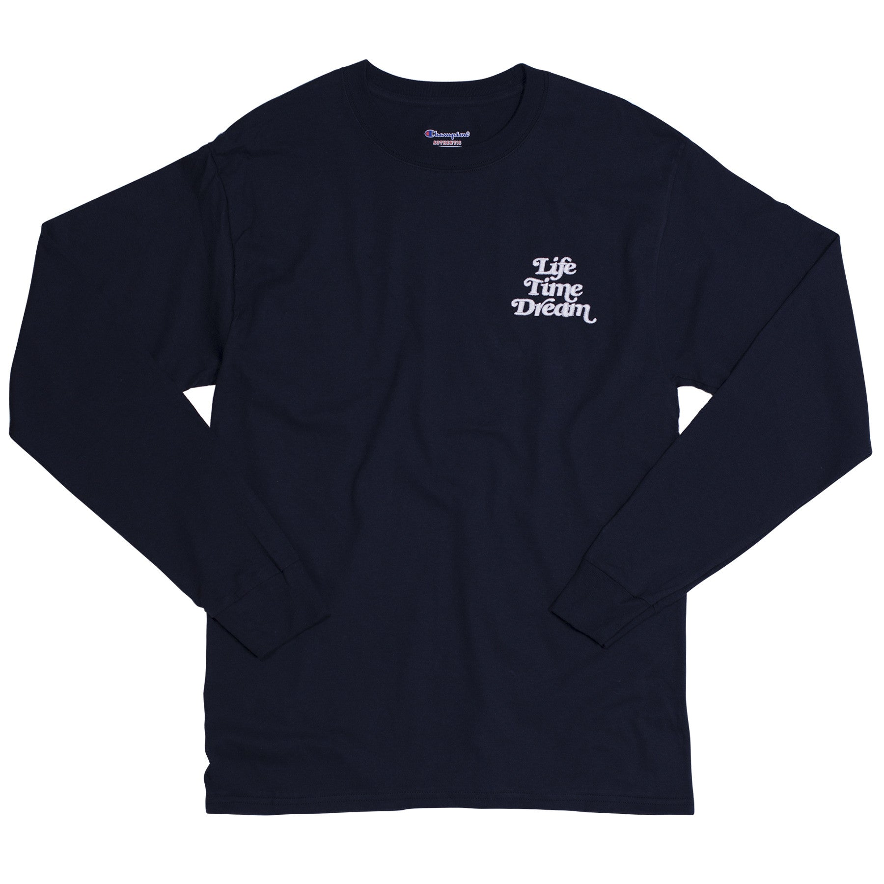 EMBROIDERED LOGO CHAMPION LS / T NAVY