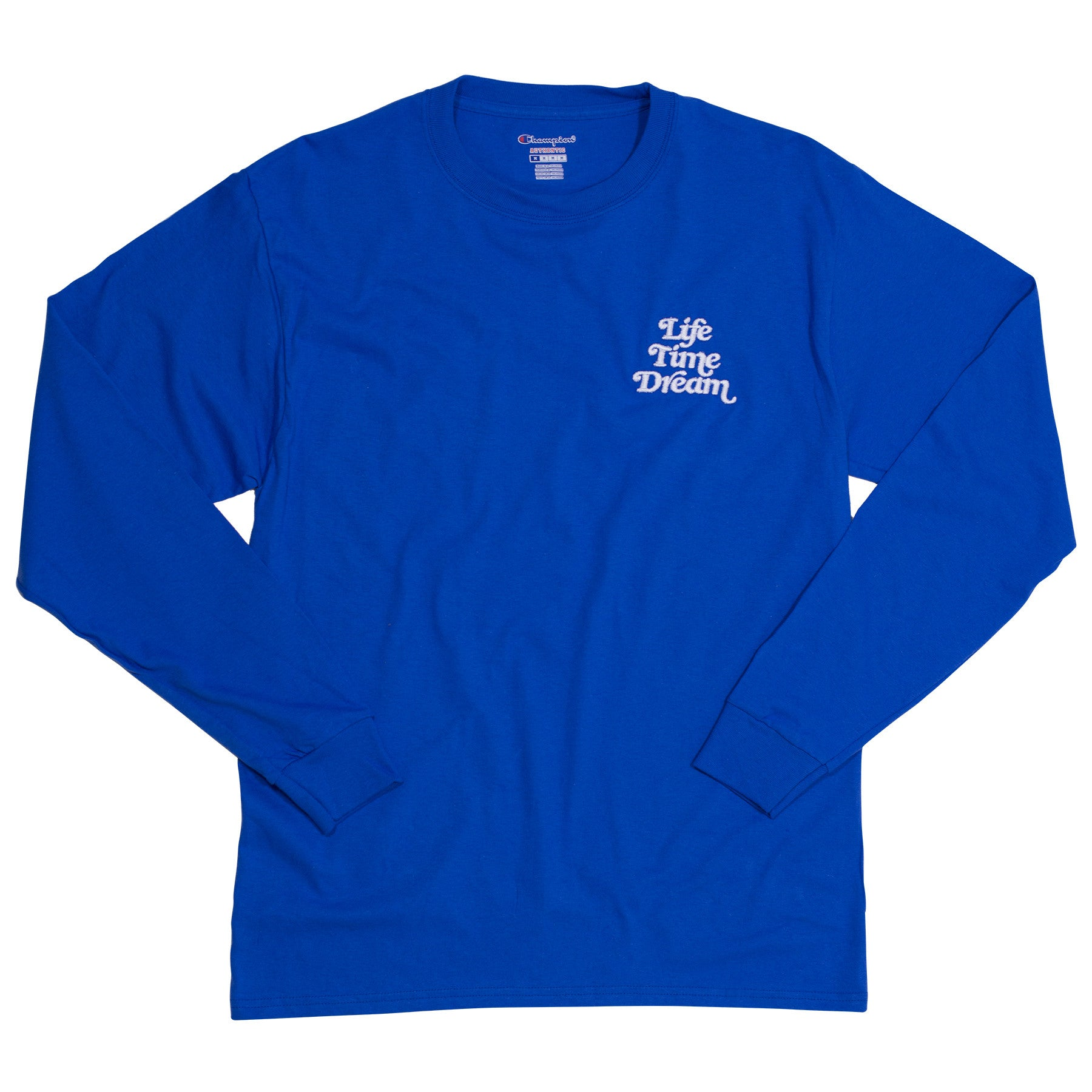 EMBROIDERED LOGO CHAMPION LS / T ROYAL