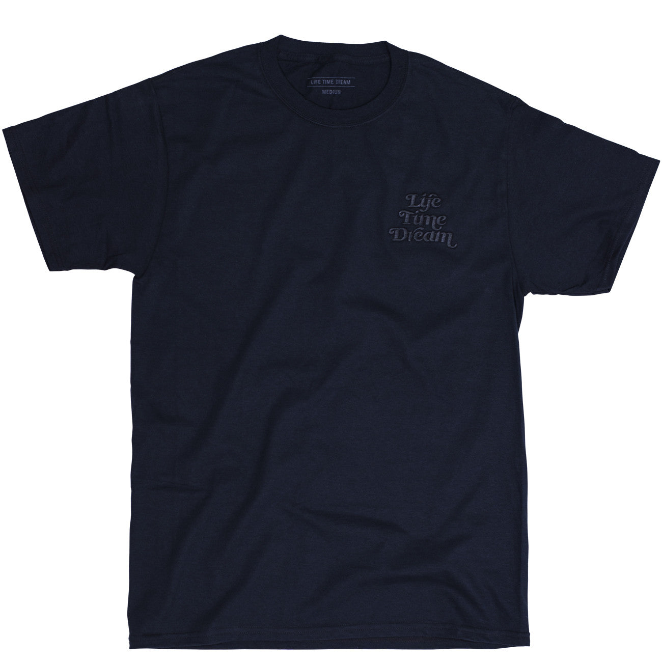 EMBROIDERED LOGO T MONOCHROMATIC BLACK