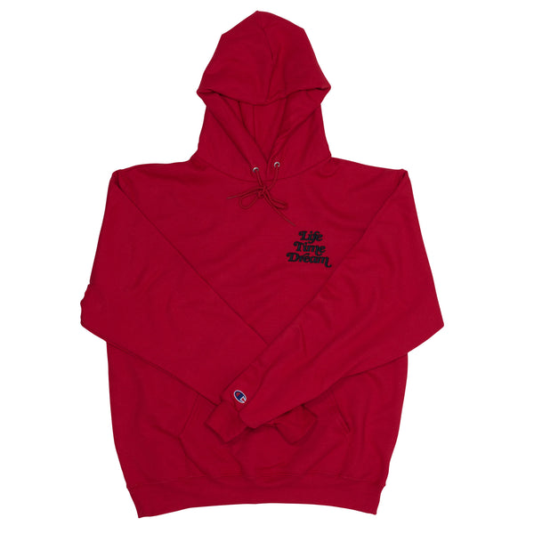 Embroidered Logo / Red-Black Champion Hoodie