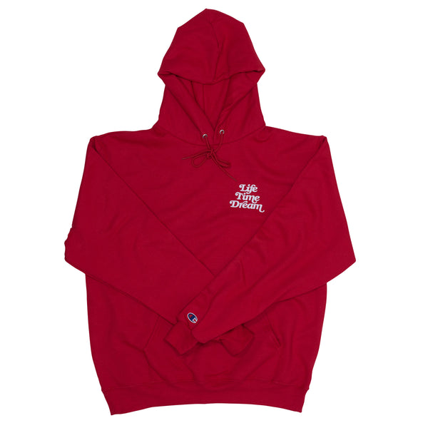 Embroidered Logo / Red-White Champion Hoodie